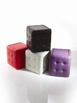 Wilkinson Furniture Qube Pouffe - Red