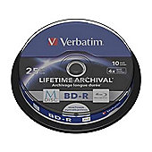 Verbatim Blu-ray Recordable Media - BD-R, 10 Pack