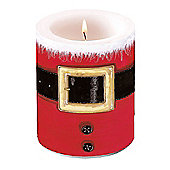 Ambiente Christmas Pillar Candle, Santa's Belt