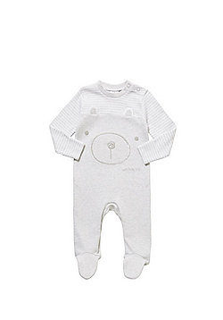 F&F Bear Face Sleepsuit - Grey