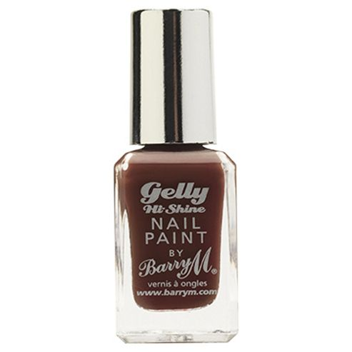 Barry M Gelly Hi Shine Nail Paint 34 Cocoa 10ml