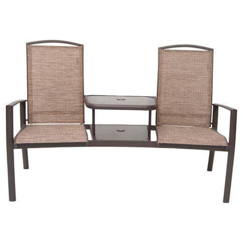 Monaco Metal & Waterproof Woven Textile Companion Seat - Brown