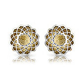 Jewelco London 18ct White and Yellow Gold Studs Earring