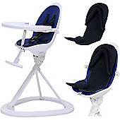 ickle bubba Orb+ Highchair (White/Blue)