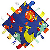 Dotty Fish Baby Tag Blanket - Sea Life