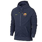 2013-14 Barcelona Nike Authentic Full Zip Hoody (Navy) - Navy