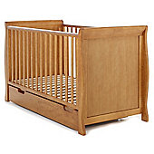 Obaby Sleigh Cot Bed & Under Drawer - Country Pine