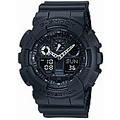 Casio G-Shock Mens Rubber Chronograph Watch GA-100-1A1ER