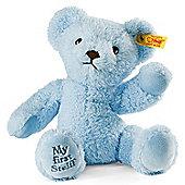 My First Steiff 24cm Blue Teddy bear Gift Boxed