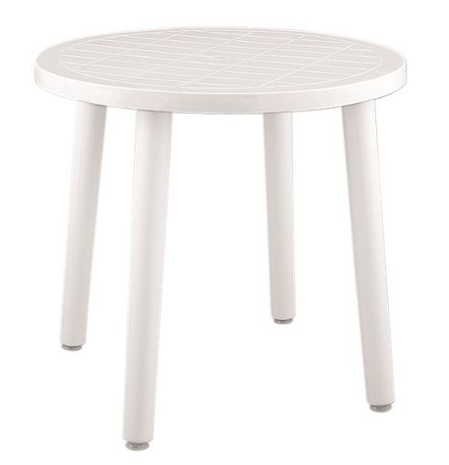 Buy Resol Tossa Outdoor Round Garden Table White Plastic