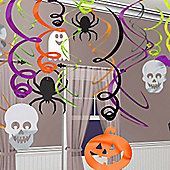 Hanging Swirls Decoration - 60.9cm Halloween Decorations (30pk)