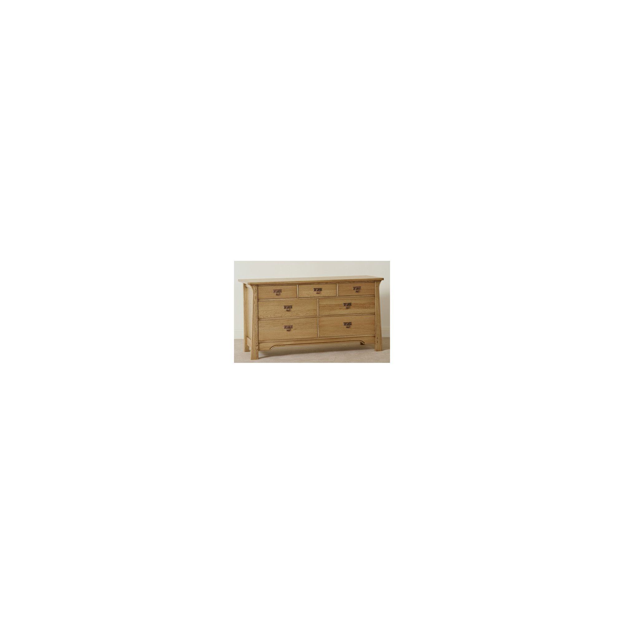 Sherry Designs Legacy Bedroom Low 7 Drawer Linen Chest - Antique Dark at Tesco Direct
