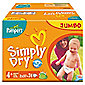 Pampers Simply Dry Jumbo Pack Maxi+ 74