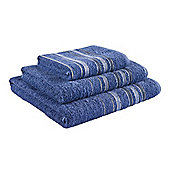 Catherine Lansfield Java Stripe Hand Towel - Navy