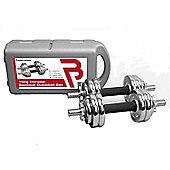 Body Power 15kg Chrome Spinlock Dumbbell Set (With Case)