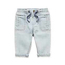 F&F Light Wash Cuffed Jeans 00 - 03 months Blue