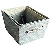 Tesco 2 Set Metallic Storage Boxes