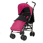 Obaby Atlas Black & Grey Stroller with Pink Footmuff/Pink Hood