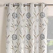 Julian Charles Santorini Cornflower Luxury Jacquard Eyelet Curtain -168x137cm
