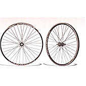 """26"""" Alloy Silver Nutted Single Wall / Freewheel Comp (Pair)"""