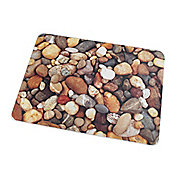 Floortex Colortex Polycarbonate Printed Pebbles Design General Purpose Mat - 120cm x 90cm