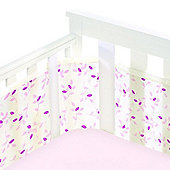 BreathableBaby Mesh Cot Wrap Fashion Collection Pink Leaf