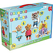 Jigsaw Puzzle - Bananas in Pyjamas - 4 Shaped Puzzles - 17284 - Jumbo
