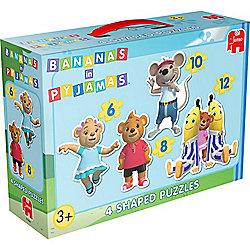 Jigsaw Puzzle - Bananas in Pyjamas - 4 Shaped Puzzles - 17284 - Jumbo