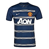 2013-14 Man Utd Nike Pre-Match Training Top (Navy) - Navy