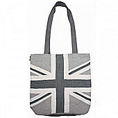 Woven Magic Union Jack Tote Bag - Monochrome