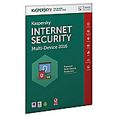 Kaspersky Internet Security 2016, Multidevice 5 Users 1 Year