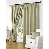 Willow Ready Made Curtains Pair, 90 x 72 Green Colour, Modern Designer Look Pencil pleated curtains