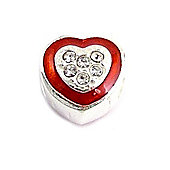 Amore & Baci Red Glamour Pave Crystal Heart Bead