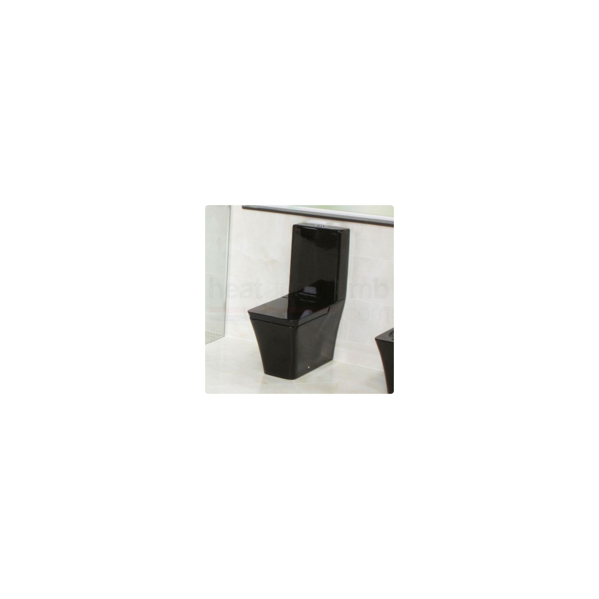 RAK Opulence Black Close Coupled Toilet with Soft Close Toilet Seat at Tesco Direct