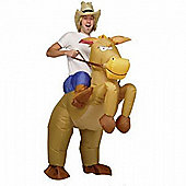 """Inflatable Cowboy Fancy Dress Costume"""