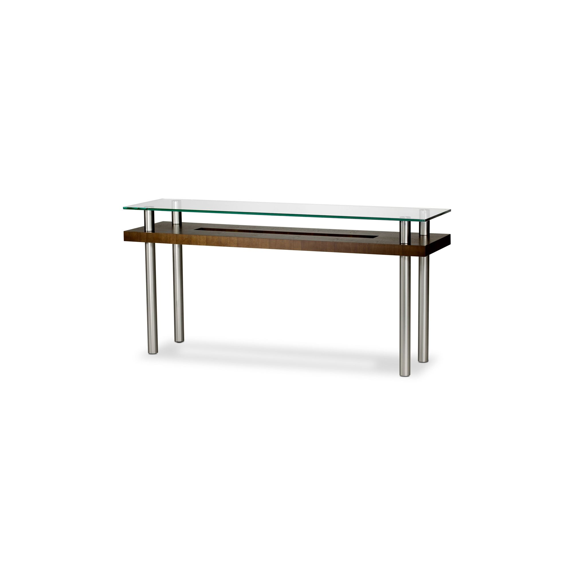 BDI Chocolate Stained Walnut Console Table