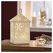 DOBBIES WHITE PORCELAIN LIGHT UP LANTERN