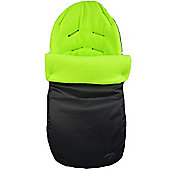 PreciousLittleOne Car Seat Footmuff (Black/Lime)