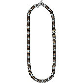 Mens Fred Bennett Men's Wood Bead and Silver Bead Necklace