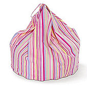 Just 4 Kidz Kids 30cm Practical Bean bag - Candy Stripe