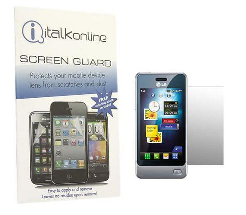 iTALKonline S-Protect LCD Screen Protector and Micro Fibre Cleaning Cloth - For LG GD510 Pop