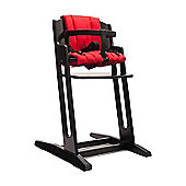 Black BabyDan Danchair High Chair & Red Comfort Cushion