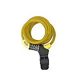 Squire 216 Combination Cable Lock 10mm x 1800mm Yellow