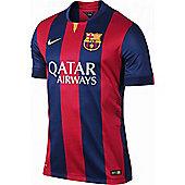 2014-2015 Barcelona Home Nike Football Shirt - Red