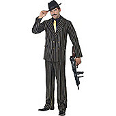 Gold Pinstripe Gangster Costume Extra Large