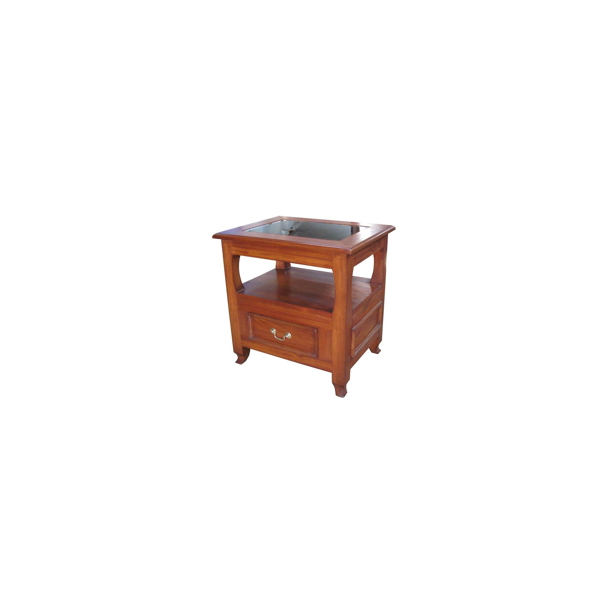 Lock stock and barrel Mahogany Lamp Table in Mahogany at Tesco Direct