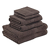 Homegear Egyptian Style Luxury Cotton Bath Towel Bale 6 Piece Set - Chocolate