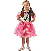 Child Pink Puffball Minnie Costume Medium