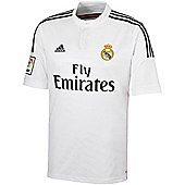 2014-15 Real Madrid Adidas Home Football Shirt - White