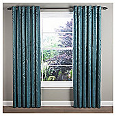 Sierra Lined Eyelet Curtains - Teal